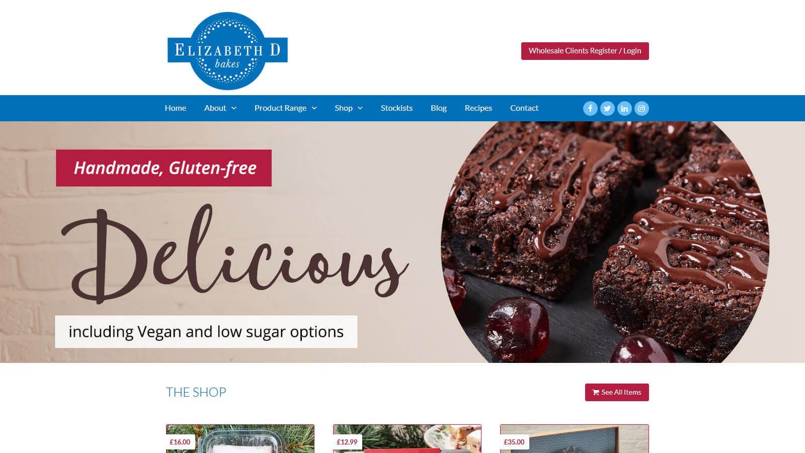 website design elizabeth d bakes